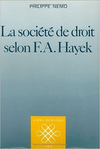 Livres gratuits La Société de droit selon F.A. Hayek pdf
