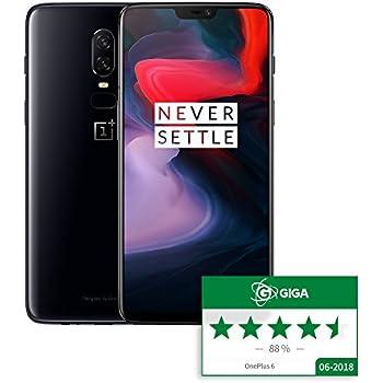 OnePlus 6 A6003 Dual-SIM (128GB Storage | 8GB RAM) Factory Unlocked 4G Smartphone (Mirror Black) - International Version / No Warranty