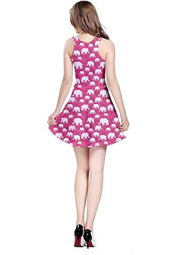 CowCow - Vestido - para mujer Pink Elephants