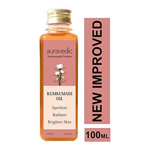 Auravedic Kumkumadi Oil Pure Saffron For Ultra Skin Brightening and Radiance, ()