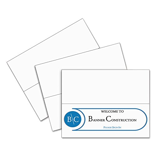 C-Line 87517 Printer-Ready Name Tent Cards, 11 x 4 1/4, White Cardstock, 50 Letter Sheets/Box by C-Line (Image #3)