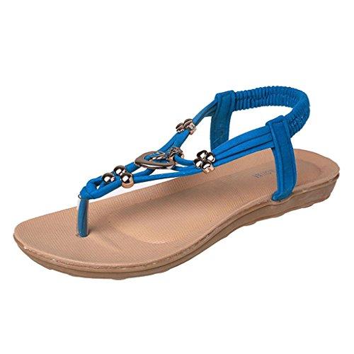 Pantofole Donne Blu da Boho Infradito Estate Scarpe MagiDeal Sandali Spiaggia dtwq11a