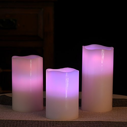Sunmi Harvestime Flameless Candles, Led Votive Pillar Candles