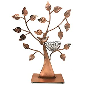 Bird Nest Jewelry Tree Earring Holder~Bracelet Stand~Necklace Organizer Jewelry Display (Bronze) by BJ Display