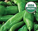 4 Lb. Fresh Premium Certified Organic Hatch Green Chile Peppers, Medium Flavor