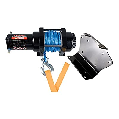 TUSK Winch with Synthetic Rope and Mount Plate 3500 lb. - Fits: Polaris RANGER RZR XP 4 1000 RIDE COMMAND Edit. 2018