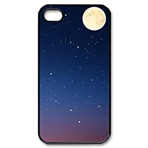 Custom Your Own Personalised Moon and Stars Iphone 4/4S Best Durable Hard Cover Case
