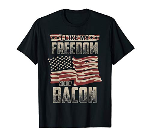 Bacon Lover American Flag Shirts for Men USA Freedom TShirt