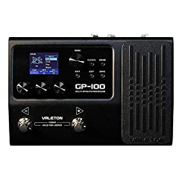 Valeton GP-100 Multi-Effects Processor Guitar Bass Multi Effects Pedal with 140 Built-in Effects 100 Drum Rhythms Amp…