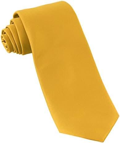 Luther Pike Mens Satin Wedding & Tuxedo Necktie Tie (12 Colors)