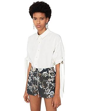 Mango Women's Floral Print Shorts
