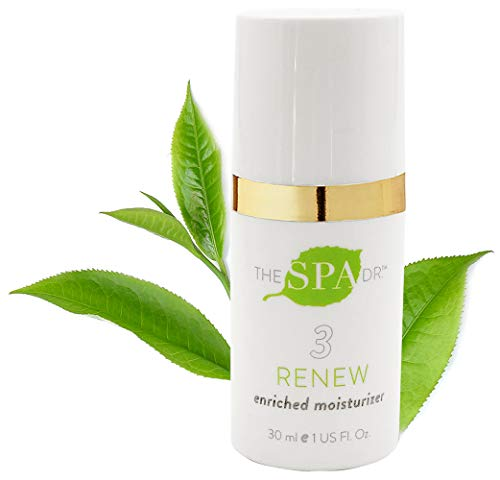 Natural & Organic Skin Care - The Spa Dr.: Step 3 Renew - Enriched Moisturizer - Anti Aging Skin Care - 30 Day Supply - Safe For All Skin Types - Perfectly pH Balanced ()