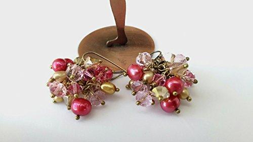 se, brass cluster earrings ()