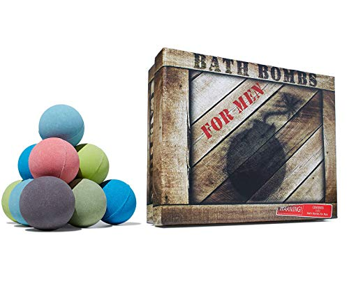 Men's Bath Bomb Set of 12 by Crate Bombs