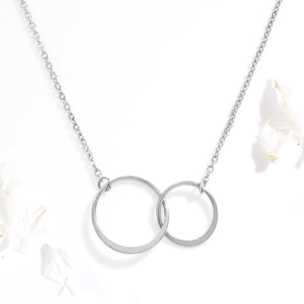Dear Ava Mimi Gift Necklace: Grandma Mimi Mimi Jewelry Best Mimi Ever 2 Asymmetrical Circles
