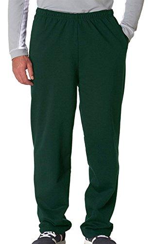 Jerzees Men's NuBlend 50/50 Open-Bottom Pocket Sweatpant, M, FOREST GREEN ()