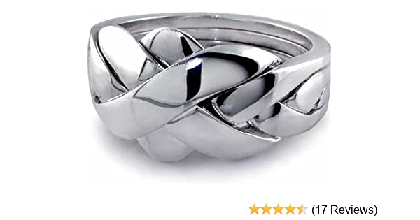 Sterling Silver Unisex Puzzle Ring