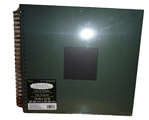 Lot of 3 Darice 12 x 12 inch Wire Bound Scrapbook Memory Album-- Hunter - Album Scrapbook Scouts 12x12