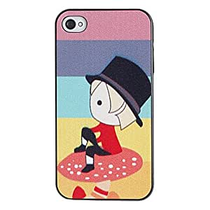 NEW Pondering Cartoon Prince Pattern PC Hard Case with Black Frame for iPhone 4/4S
