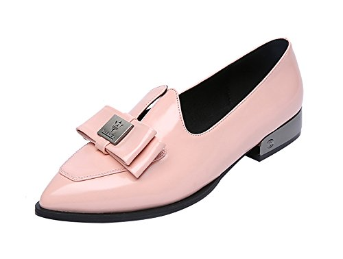 freerun-womens-pointed-toe-slip-on-low-heel-with-bowknow-flats-shoes-75-bmuspink