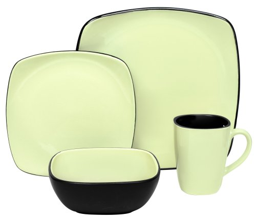 Corelle Hearthstone Stoneware Square 16-Piece Set, Service for 4 ...