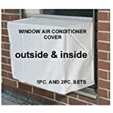 Window air conditioner covers - Window/thru Wall - 2PC SET - Outdoor/Indoor - 21W x 15H x 15D AND 21W x 15H x 4D - White