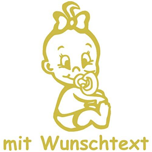 Babyaufkleber mit Name/Wunschtext - Motiv 717 (16 cm) - 20 Farben und 11 Schriftarten wählbar MY-BABY-SHOP