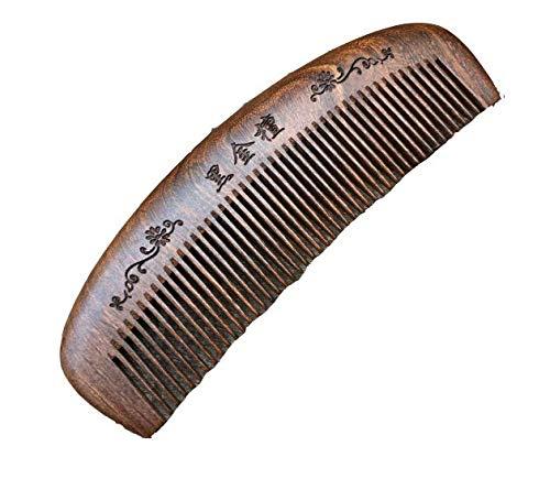 Crescent Comb Handmade Vintage Sandalwood Wide Tooth Wood Comb Wood Color Anti-static Wood Comb Health Wood Comb