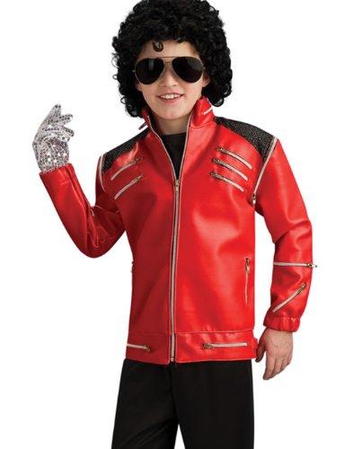 Michael Jackson Thriller Silver Sequins Kids Glove Halloween Costume Accessory ()