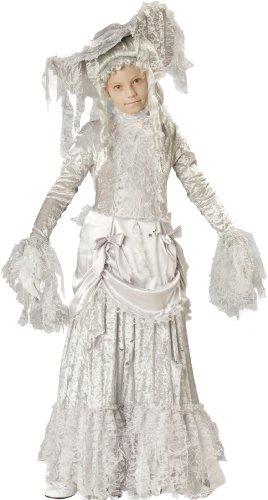 Lady Girls Ghostly Costumes (InCharacter Costumes, LLC Little Girls' Ghostly Lady Tattered Dress Set, White,)