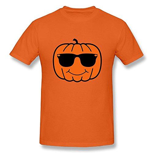Richard-L Mens T-Shirt-Classic Pumpkin With Sunglasses Orange - Sunglasses Escobar
