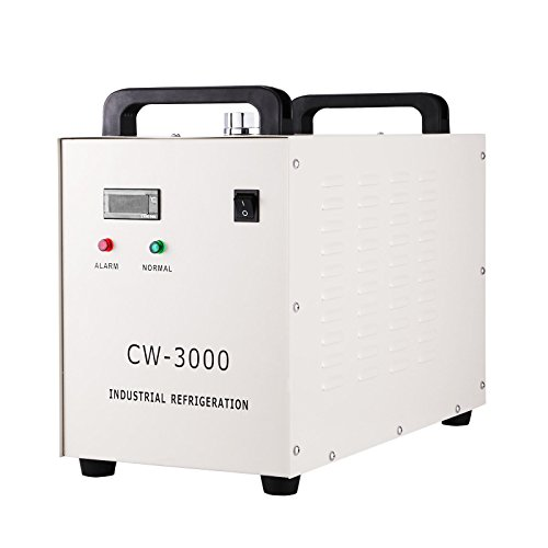Happybuy Water Chiller CW-3000DG 9L Capacity Thermolysis Industrial Water Chiller 220V 50HZ Industrial Chiller for 60/80W CO2 Glass Tube Energy Saving (CW-3000DG)