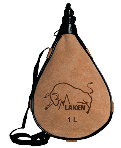Laken Leder-Feldflasche gerade Form PK1000 - R