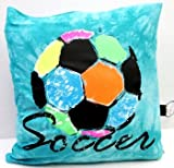 Rainbow Soccer Autograph Pillow