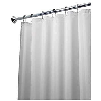 Amazon.com: InterDesign 84-Inch Fabric Waterproof Long Shower ...