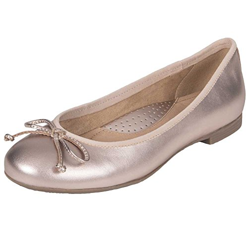Womens Gold Pearlized Leather Rose Earth Soft Flat Allegro Ballet dwgRqRx6OX