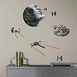 RoomMates Star Wars Classic Spaceships P...
