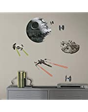 RoomMates RMK3012SCS Star Wars EP VII Spaceships P&S Wall Decals, 21 Count
