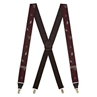 Suspender Store Mens Vintage Ribbon Fly Fishing Suspenders - CLIP