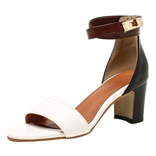 Coolcept Women Simple Strappy Sandals Shoes White wypos5hPus