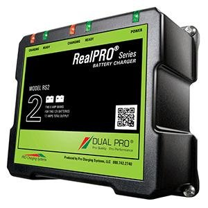 Dual Pro Realpro Series Battery Charger - 12a - 2-6a-Banks - 12v/24v