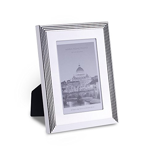 FFYYEE Modern Simplism Style- Plating Silver Picture Frame (Silvery) K2954-1(4X6, - Frame Gold Geometric