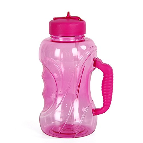 1.5L Large Capacity Sports Water Bottle BPA Free Water Jug with Handle, Leak proof Drinking Bottles Water Container Fitness and Reusable for Outdoor Sports Cycling Camping Hiking Gym Workout & Office by WELTRXE