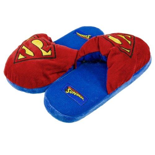 Old Glory Superman-Logo-Big Plüsch-Pantoffeln, mehrfarbig