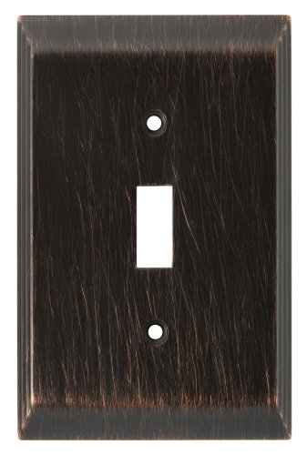 Franklin Brass 126408 Stately Single Toggle Switch Wall Plate / Switch Plate / Cover, Venetian Bronze (Bronze Venetian Switchplate)