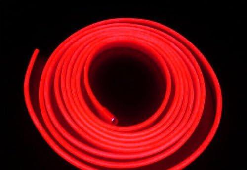 Red Ronben 6.5ft Panel Gap Neon Lamp Strip Cold EL OLED Interior Light Trim Atmosphere