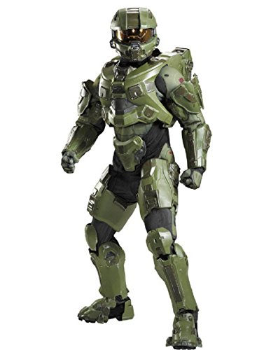 Disguise Men's Halo Master Chief Ultra Prestige Costume, Green, -