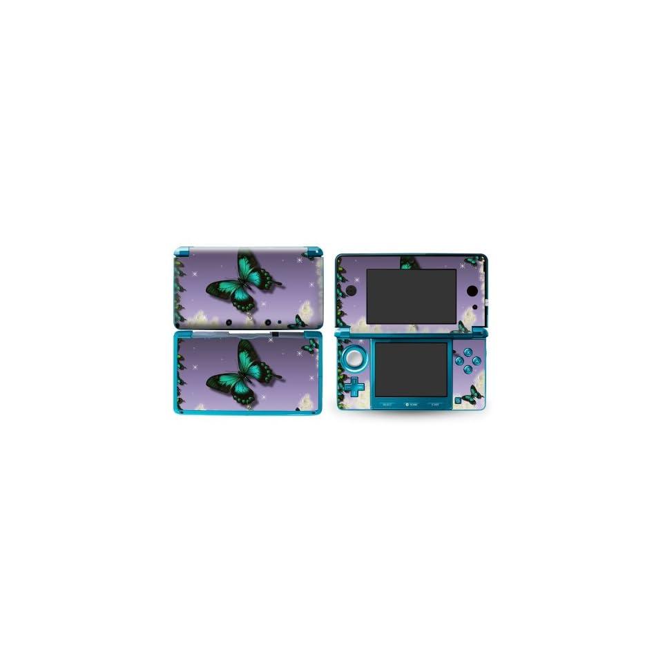 Bundle Monster Nintendo 3ds Vinyl Skin Cover Art Decal Sticker Protector Accessories   Butterfly Dance