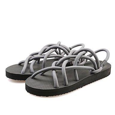 Zapatillas Unisex &Amp; Flip-Flops Primavera Verano LA LUZ DE CONFORT Soles Club zapatos casual tac¨®n cu?a exterior de Nylon Negro Gris claro US11 / EU43 / UK9 / CN44