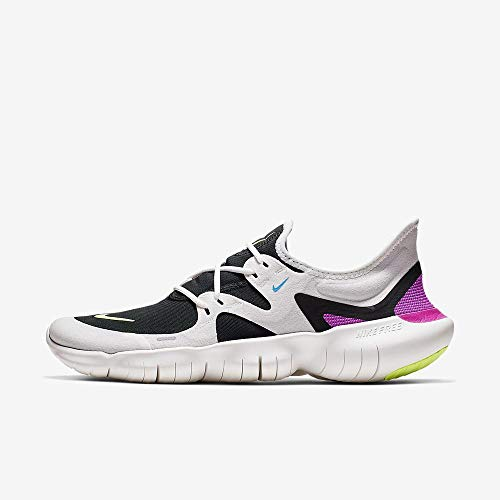 Nike Men's Free RN 5.0 Running Shoes (12, White/Volt)